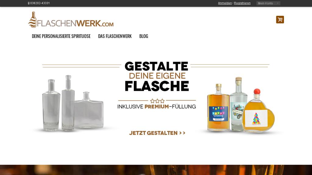Flaschenwerk Online-Shop