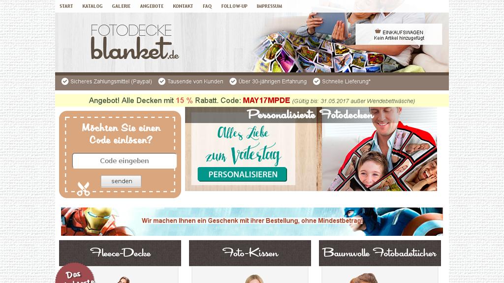 Fotodecke Blanket Online-Shop