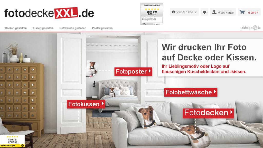 FotodeckeXXL Online-Shop