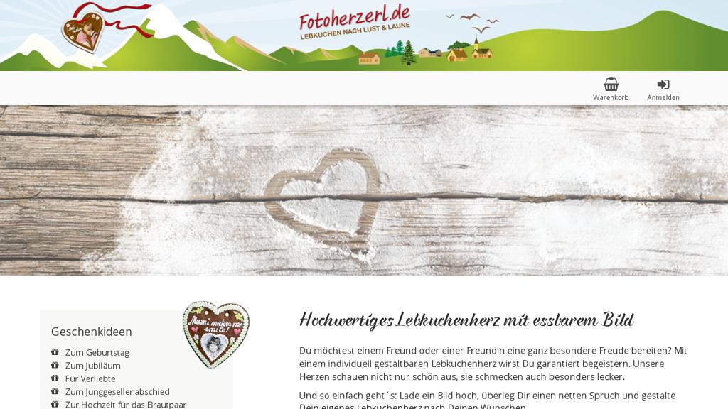 Fotoherzerl Online-Shop