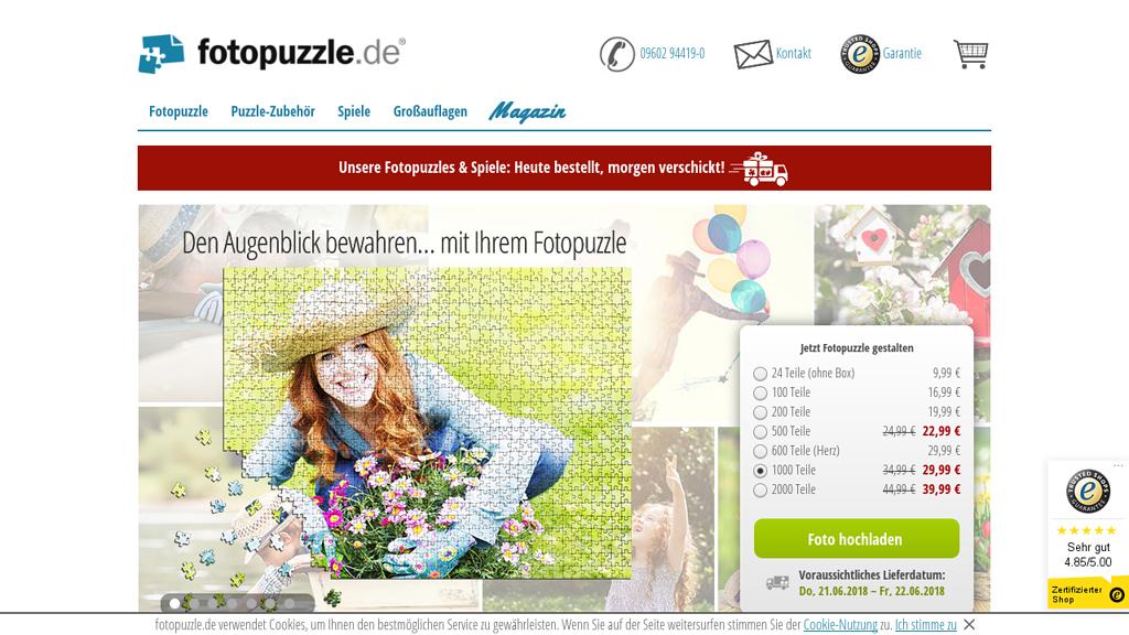 fotopuzzle.de Online-Shop