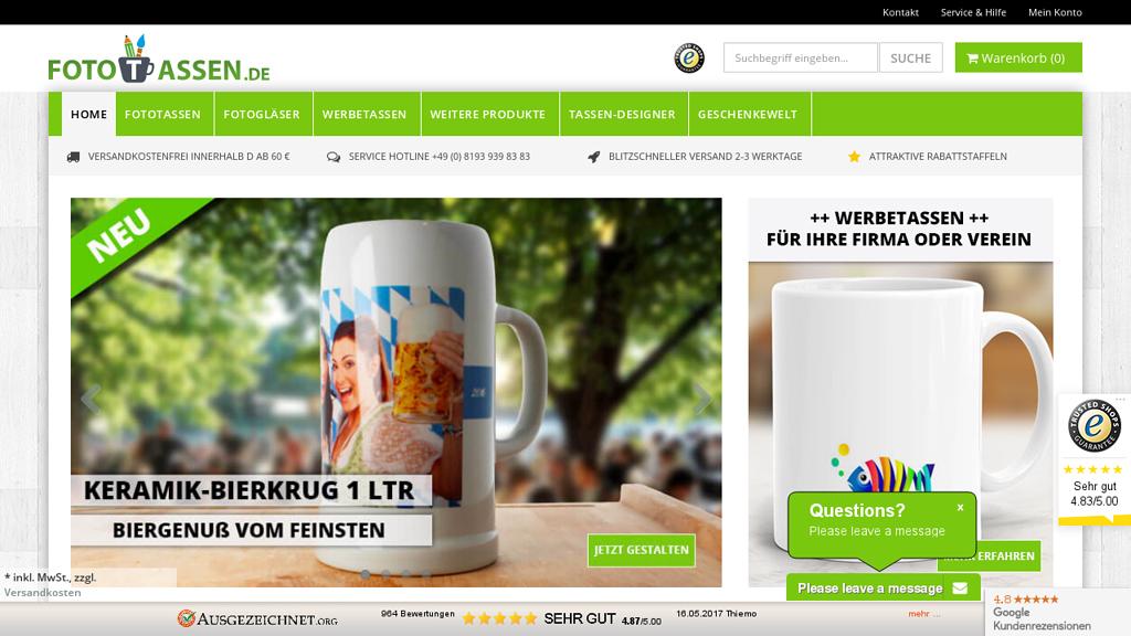 Fototassen.de Online-Shop