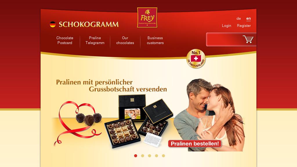 Frey SCHOKOGRAMM Online-Shop