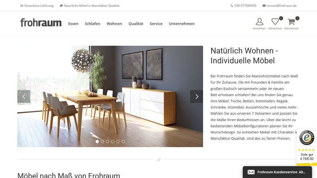 Frohraum Online-Shop