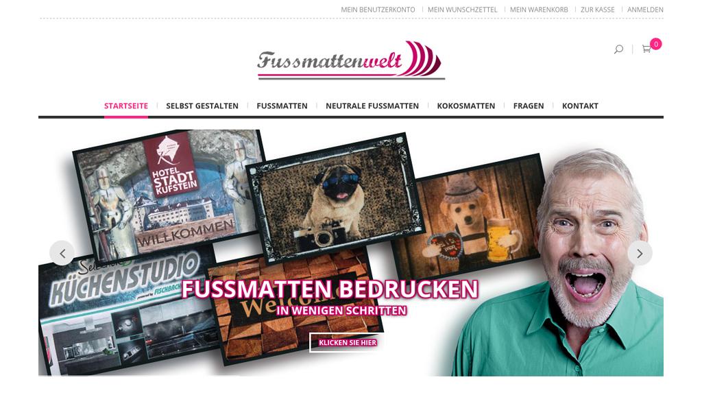 Fussmattenwelt Online-Shop
