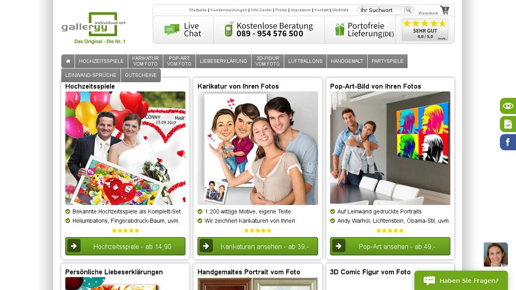 galleryy Online-Shop