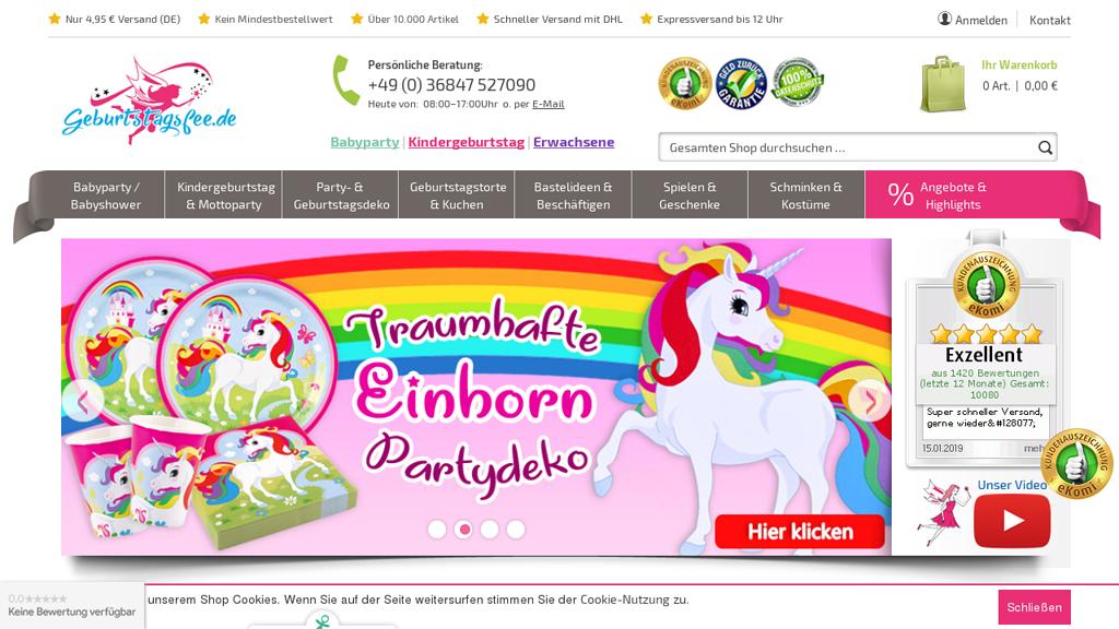 Geburtstagsfee Online-Shop