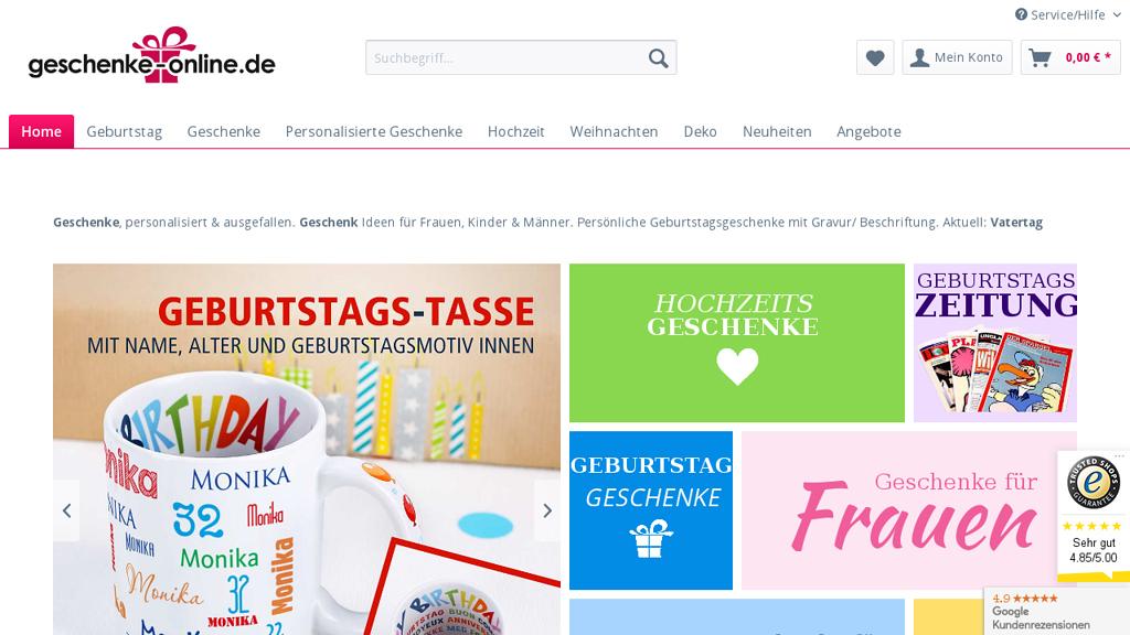 Geburtstagsgeschenk online Store