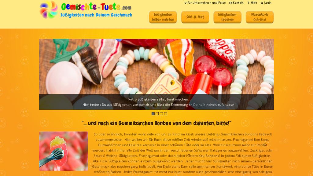 Gemischte Tüte Online-Shop