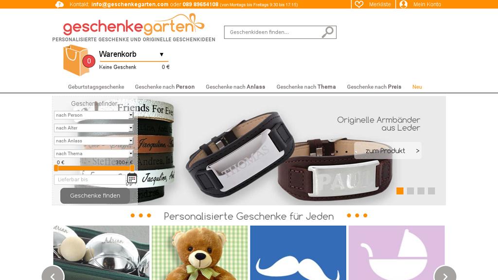 Geschenkegarten Online-Shop