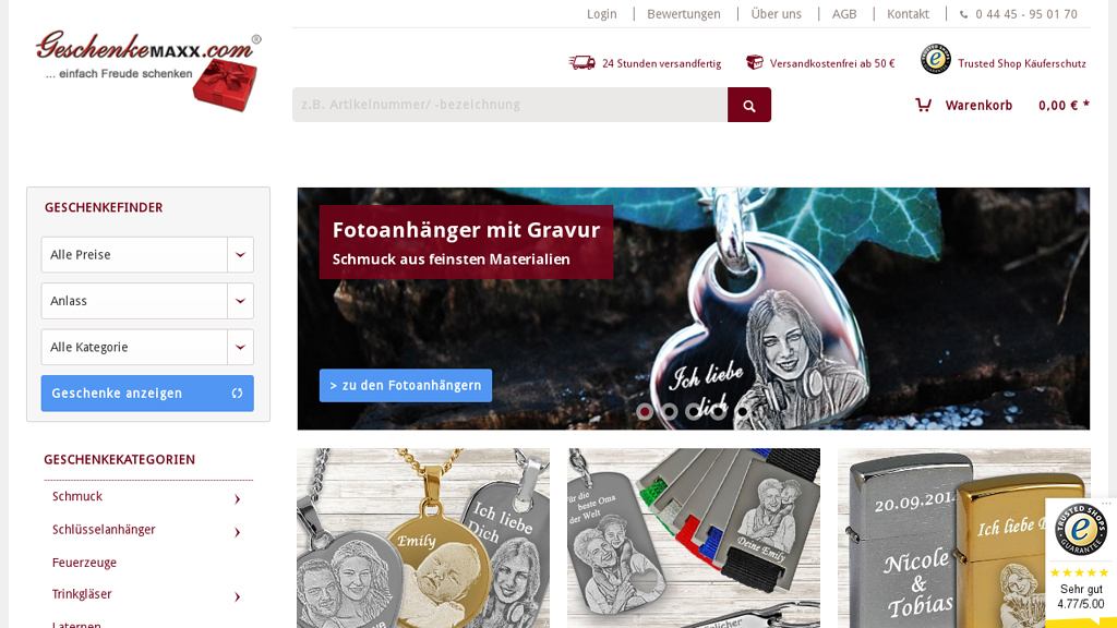 GeschenkeMAXX Online-Shop