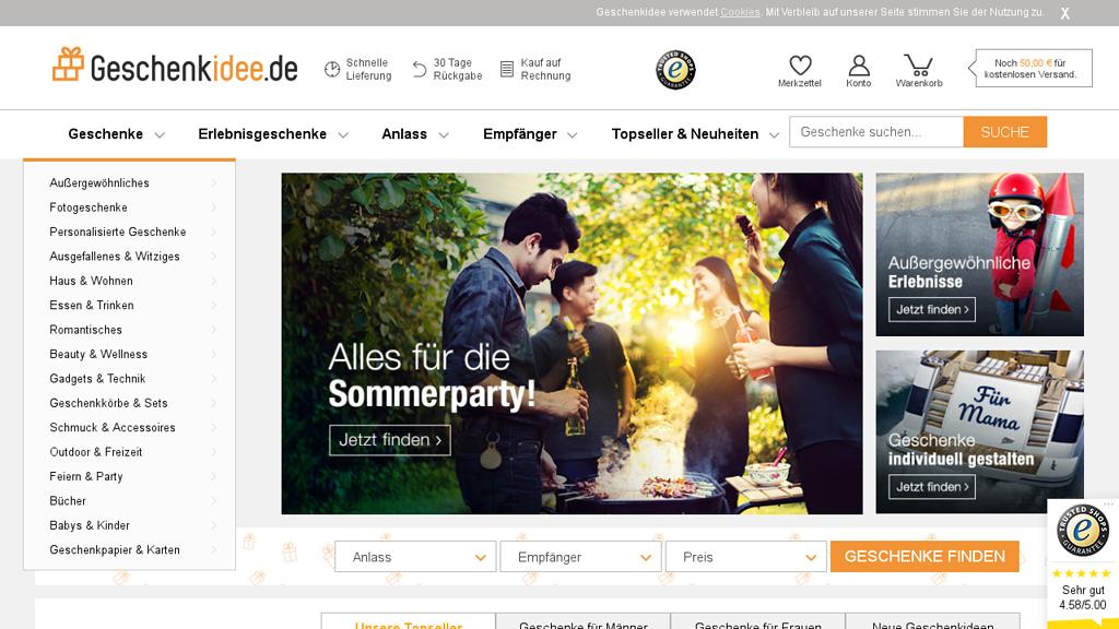 Geschenkidee.de Online-Shop