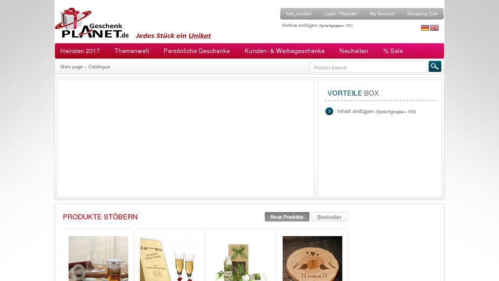 Geschenkplanet Online-Shop