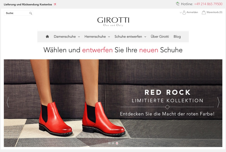 Girotti Online-Shop