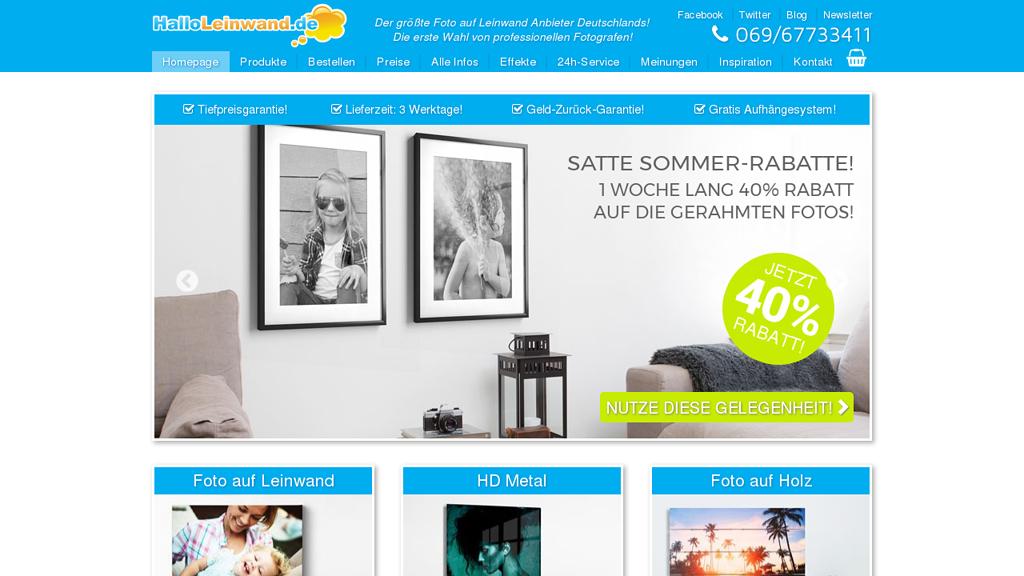 HalloLeinwand Online-Shop