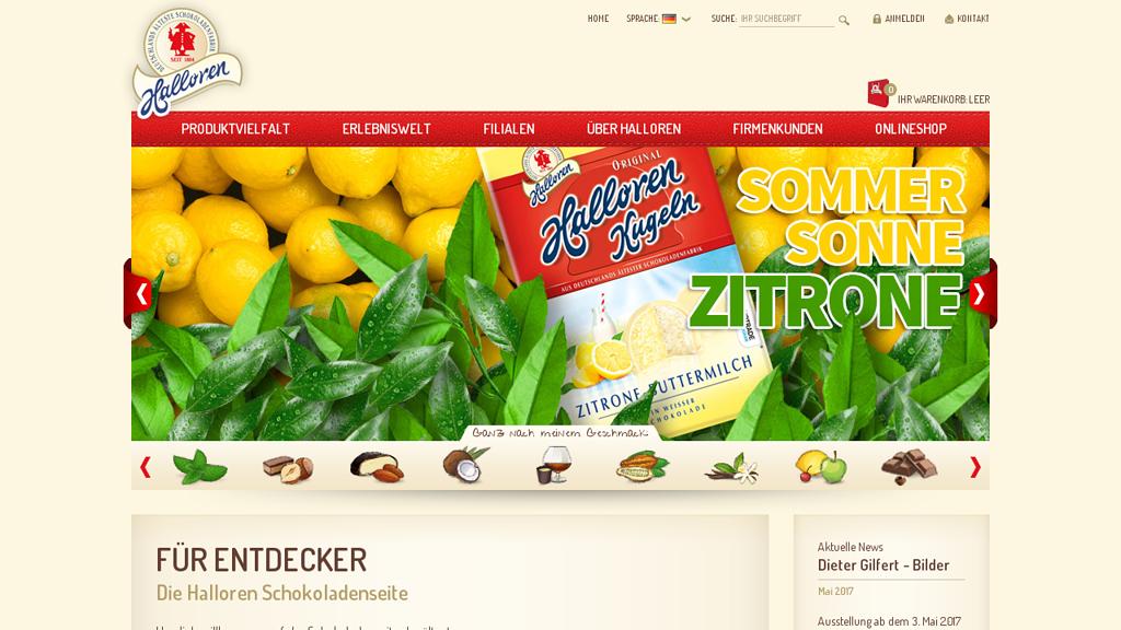 Halloren Online-Shop