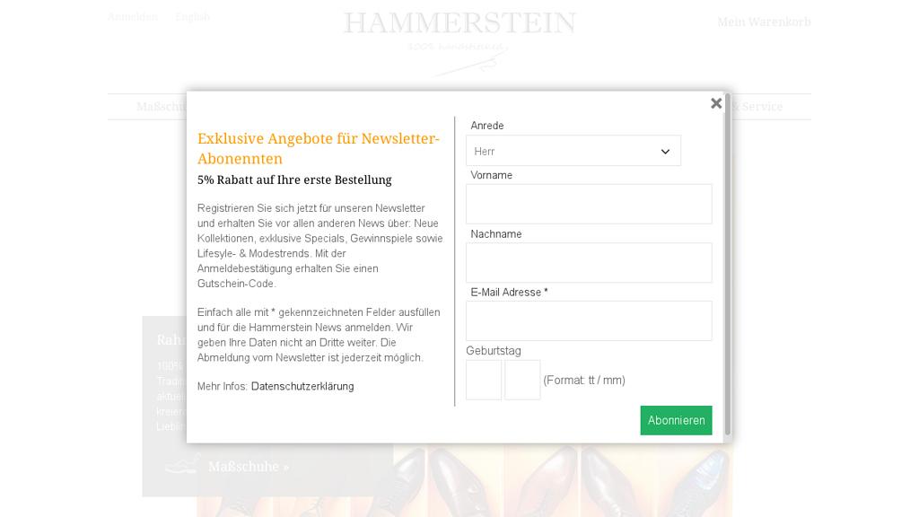 Hammerstein Online-Shop