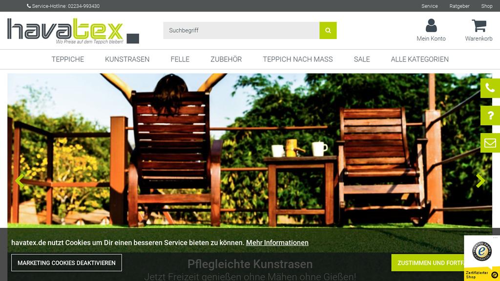 havatex Online-Shop