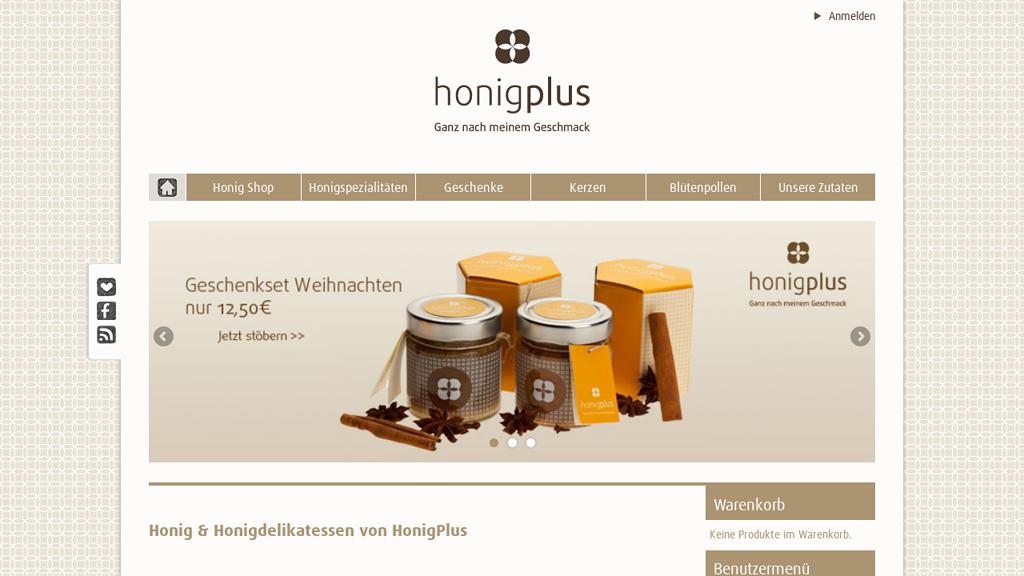 honigplus Online-Shop