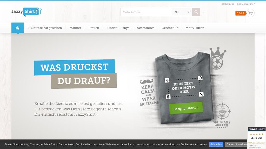Jazzyshirt Online-Shop
