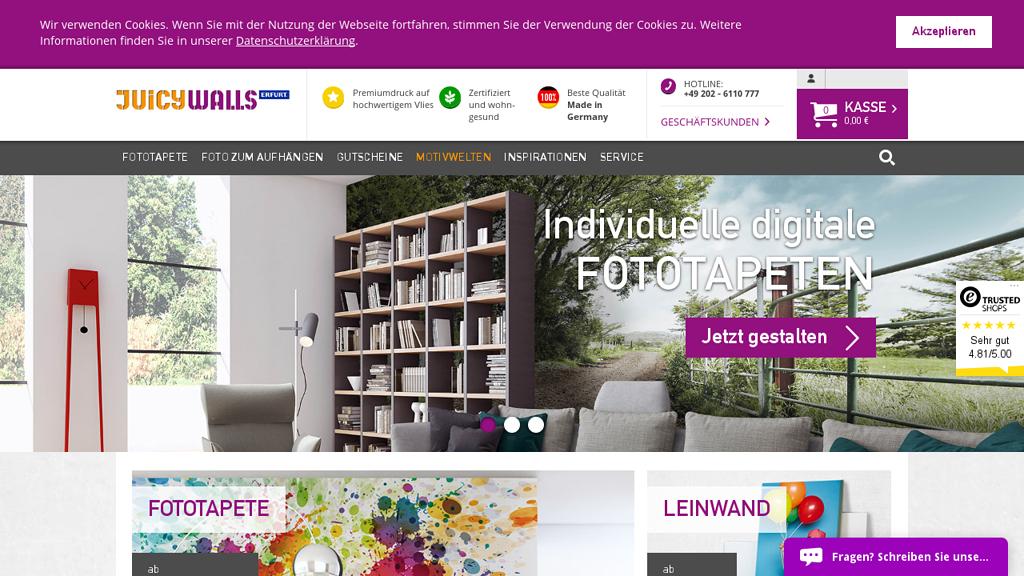 Juicywalls Online-Shop