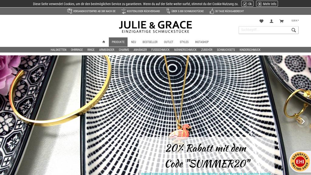 JULIE & GRACE Online-Shop