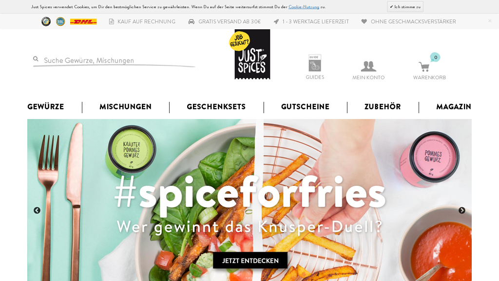 Just Spices Online-Shop