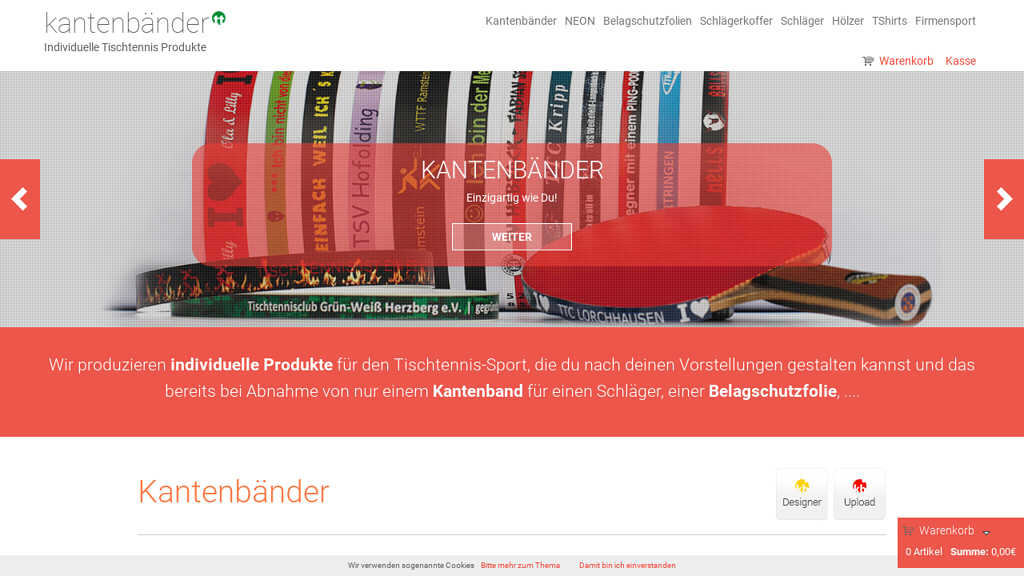 Kantenbänder Online-Shop