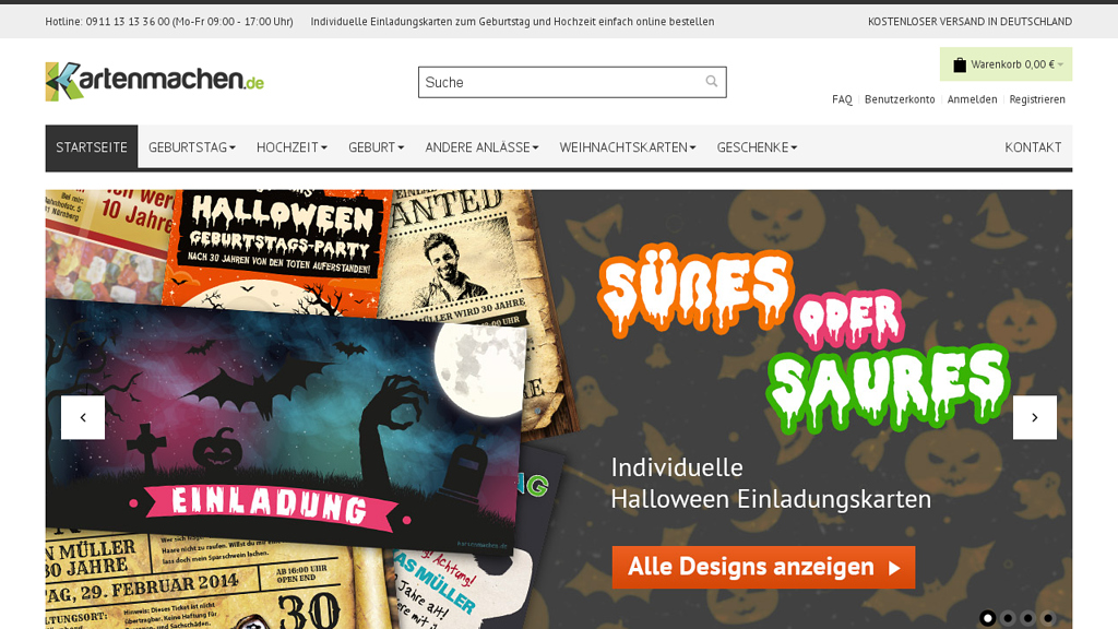 kartenmachen.de Online-Shop