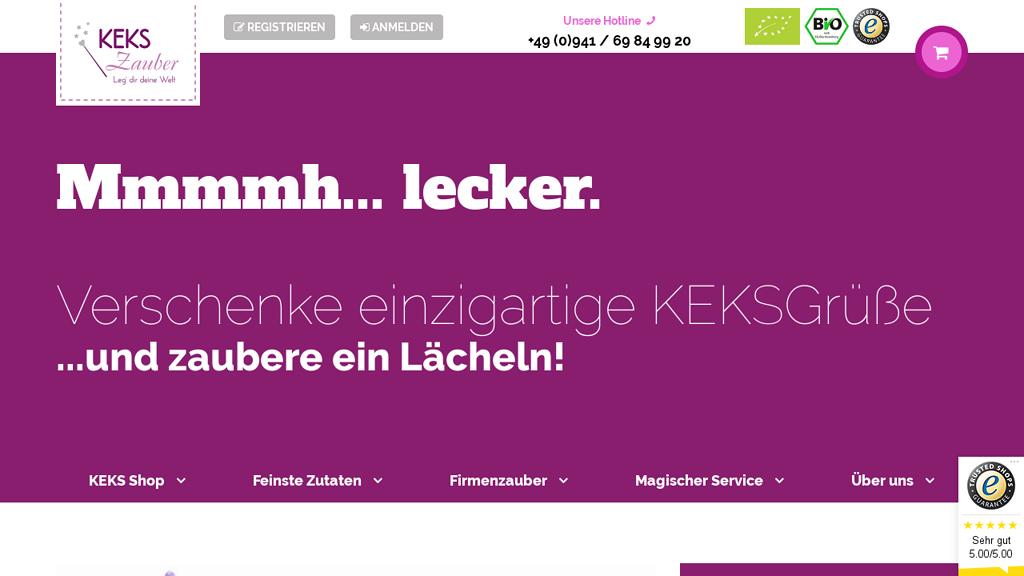KEKSZauber Online-Shop