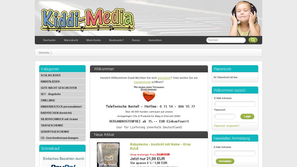 Kiddi-Media Online-Shop