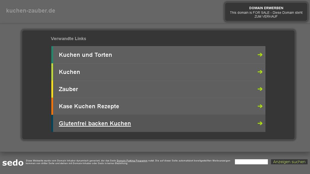 Kuchen Zauber Online-Shop