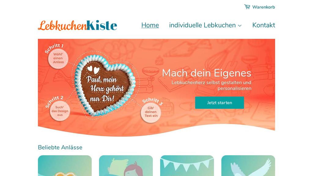 Lebkuchenkiste Online-Shop