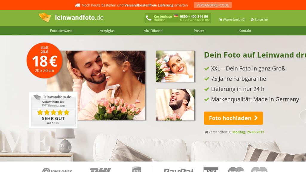 leinwandfoto.de Online-Shop