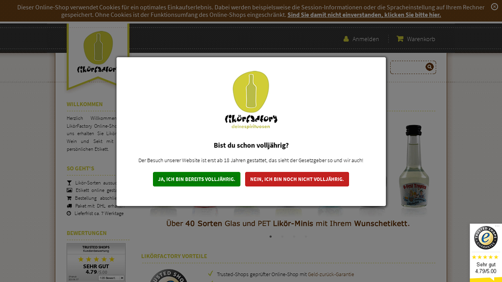 LikörFactory Online-Shop