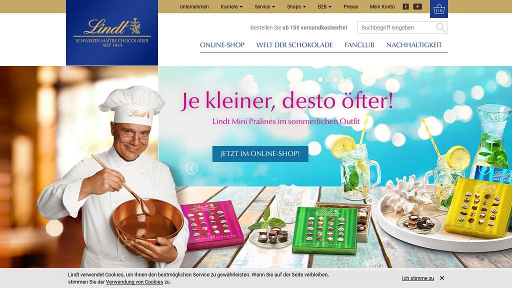 Lindt Online-Shop