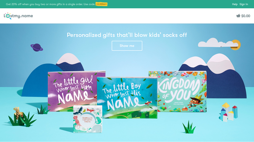 Wonderbly Online-Shop