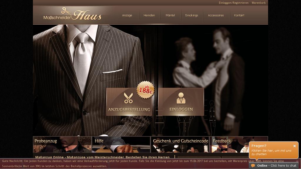 MaßschneiderHaus Online-Shop