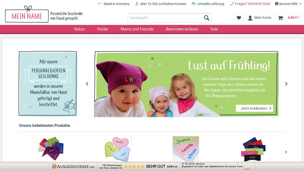 Mein-Name.info Online-Shop