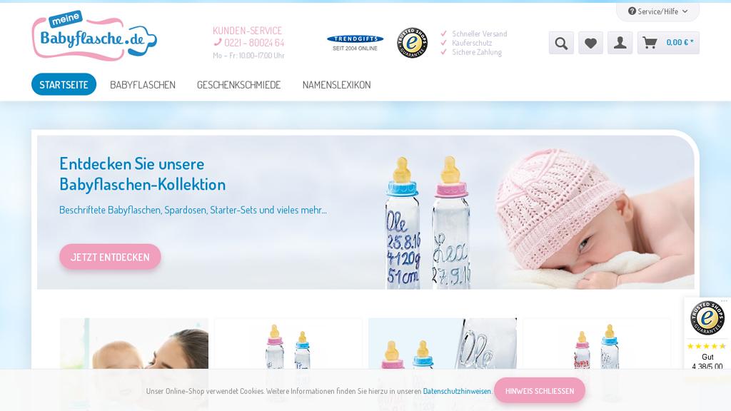 MeineBabyflasche.de Online-Shop