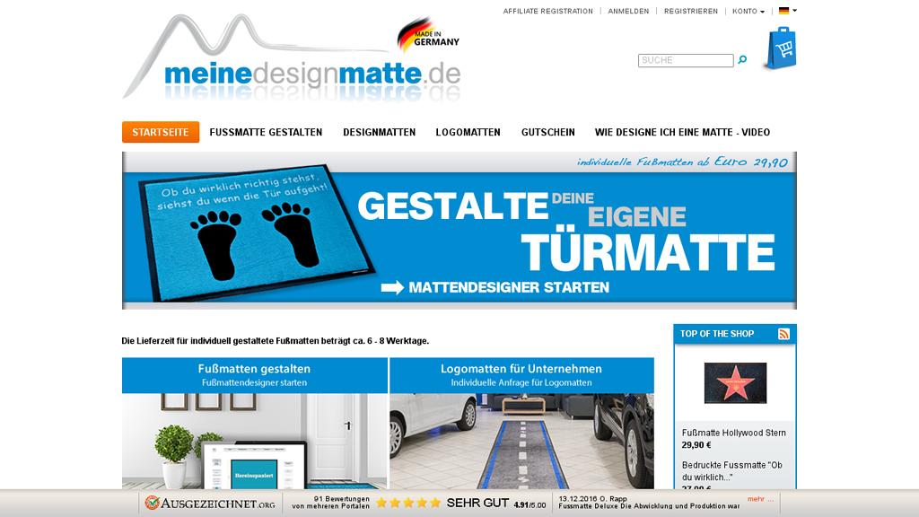 meinedesignmatte.de Online-Shop