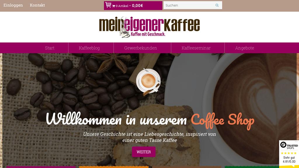 Mein eigener Kaffee Store