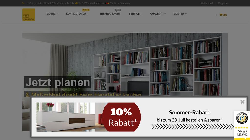 Meine Möbelmanufaktur Online-Shop