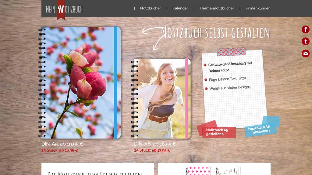 Mein Notizbuch Online-Shop