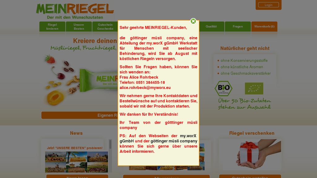 MeinRiegel Online-Shop