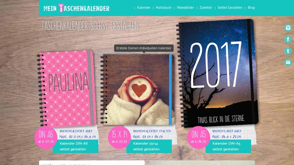 Mein Taschenkalender Online-Shop