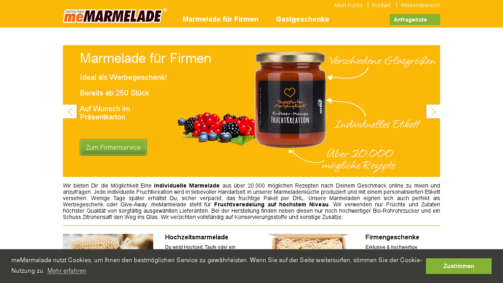 meMARMELADE Online-Shop