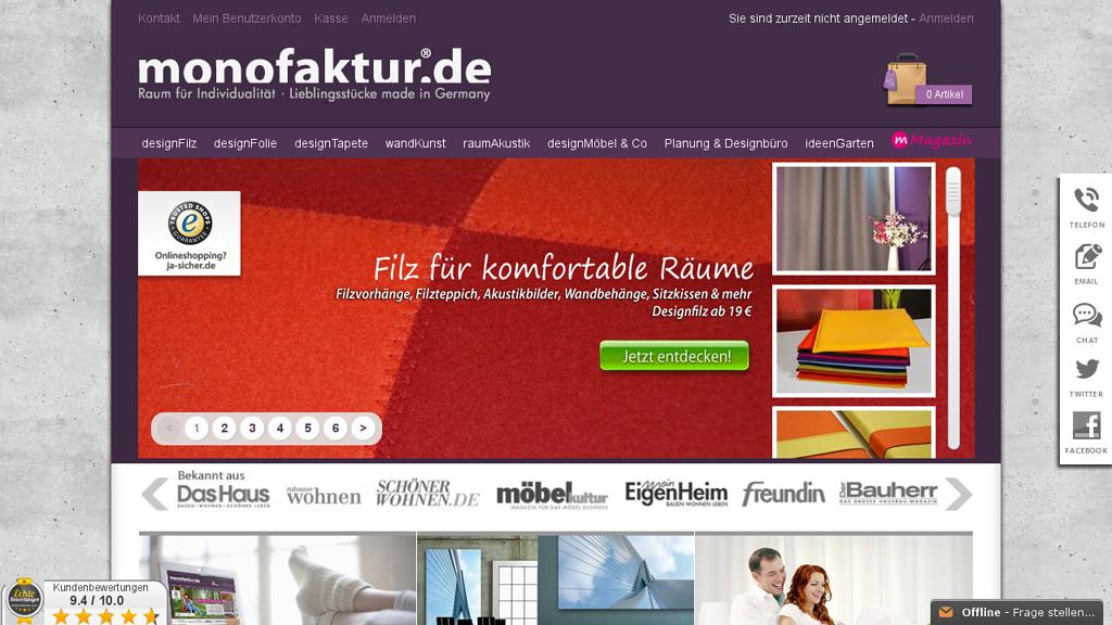 monofaktur Online-Shop
