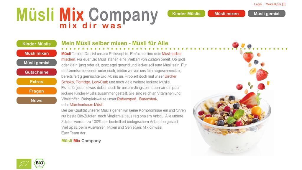 Müsli Mix Company Online-Shop