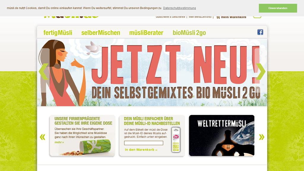 müsli.de Online-Shop